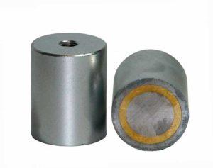 Base Magnetica Alta Ajustable en Altura Agujero Roscado Alnico Hasta 450ºC
