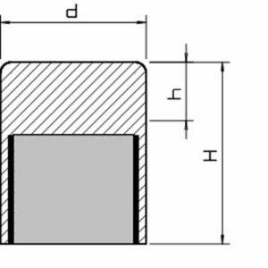 Base Magnetica Alta Ajustable en Altura Lisa sin Agujero Alnico Hasta 450ºC