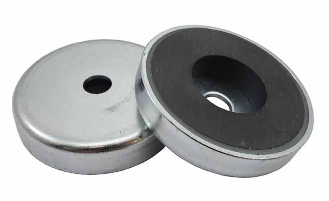 Base Magnetica Baja Carcasa INOX Iman ceramico Ferrita Hasta 200ºC