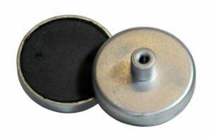 Base Magnetica Baja Carcasa INOX Iman ceramico Ferrita Hasta 220ºC