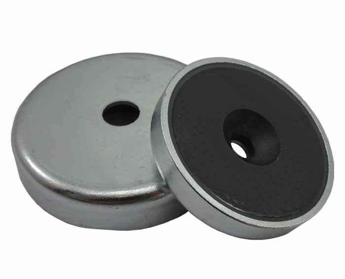 Base Magnetica Baja Iman disco ceramico Agujero Pasante Avellanado Ferrita Hasta 200ºC