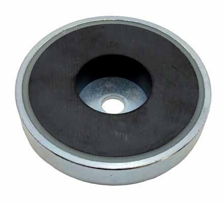 Base Magnetica Baja Iman disco ceramico Agujero Pasante Ferrita Hasta 200ºC