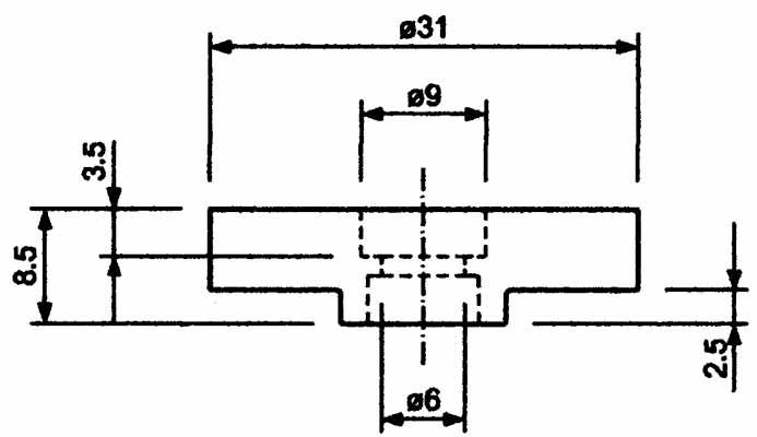 Base Magnetica Caucho Agujero roscado de Sujecion Hasta 60ºC