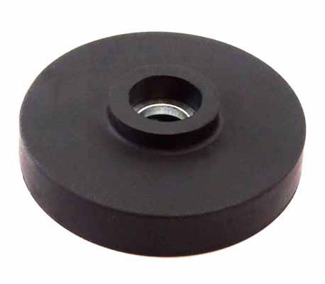 Base Magnetica Caucho con Soporte Plastico para Embridar Hasta 60ºC