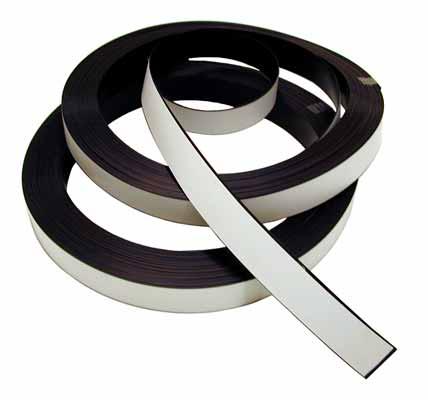 Imanes Plasticos Etiqueta Lamina de PVC Blanco perfil simple