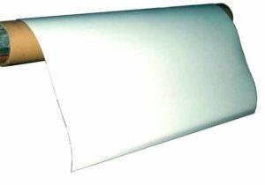Imanes Plasticos Plancha Isotropica con PVC Blanco