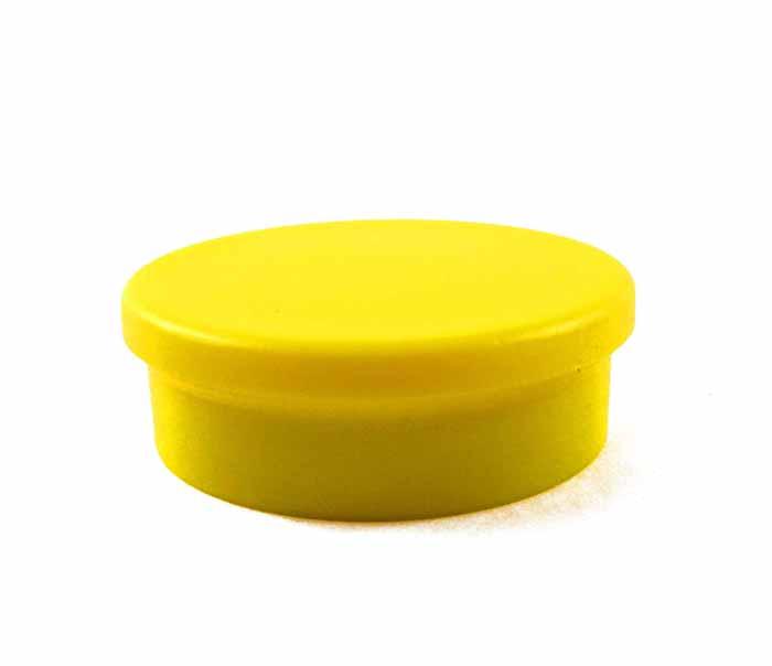 Imanes de Oficina Imanes para Pizarras Circular Amarillo