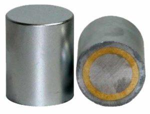 Medidas Base Magnetica Alta Ajustable en Altura Lisa sin Agujero Alnico Hasta 450ºC