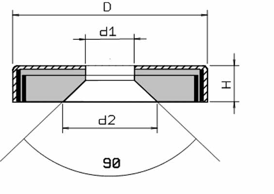 Medidas Base Magnetica Baja Iman disco ceramico Agujero Pasante Avellanado Ferrita Hasta 200ºC