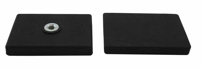 Medidas Base Magnetica Caucho Doble Agujero Ciego Roscado Rectangular Hasta 60ºC