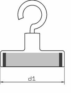 Medidas Imanes de Oficina Bases Magneticas Decoracion en Acero