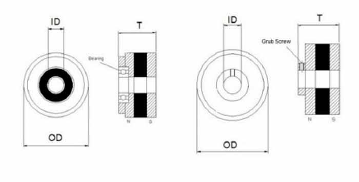 Medidas Sistemas Magneticos Rodillo Rueda Magnetica Trepadora para Robotica