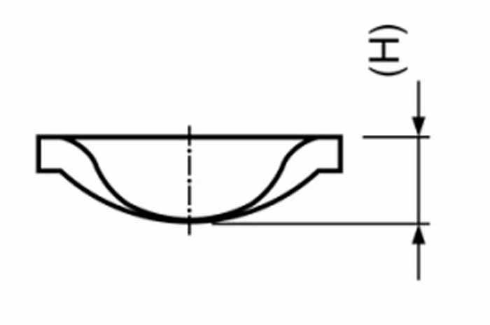 Medidas frontal Accesorio Contraplaca acodada Galvanizada
